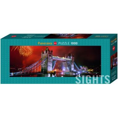 Heye  1000  -  Tower Bridge, - Panoramic puzzle