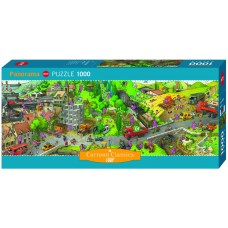 Heye  1000  -  Busy Day, Jean-Jacques Lup, - Panoramic Puzzle
