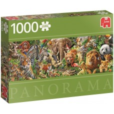 Jumbo  1000  - Wildlife in Africa, - Panoramic puzzle