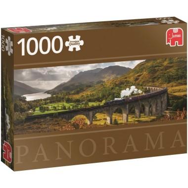 Jumbo  1000  -  The Glenfinnan Viaduct, - Panoramic puzzle