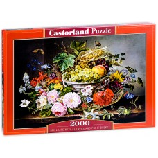 Castorland 2000 - Still life with fruits and flowers