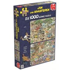 Jumbo 2 х 1000 - Safari and Storm, Jan van Haasteren