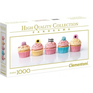 Clementoni  1000  - Cakes, - Panoramic puzzle