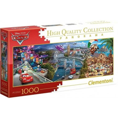 Clementoni  1000  - Cars, - Panoramic puzzle