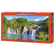 Castorland 4000 - Waterfalls in Krka, Croatia
