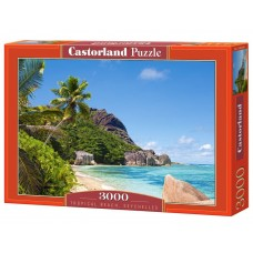 Castorland 3000 - Tropical beach, Seychelles