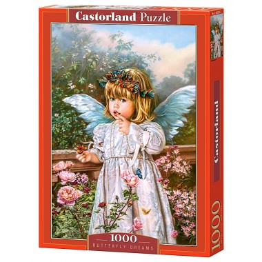 Castorland  1000  - Angel with butterflies