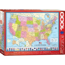 Eurographics 1000 - Map of the United States