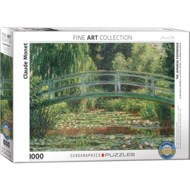 Eurographics 1000 - Japanese Bridge / Water Lilies, Claude Monet