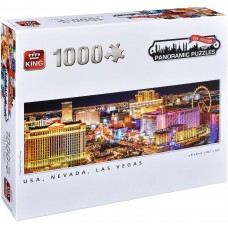 King  1000  -  Nevada, Las Vegas, Susanne Kremer, - Panoramic puzzle