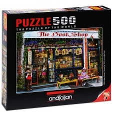 Puzzle Anatolian 500 - Children in front of bookstore, Amy Stewart