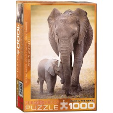 Eurographics 1000 - Elephant and his little one