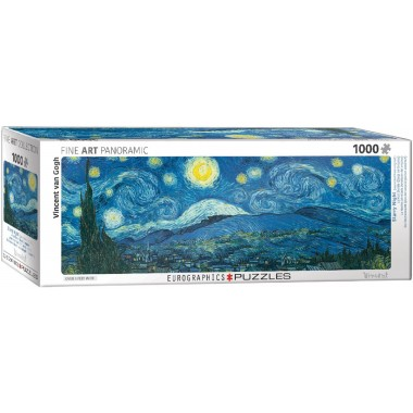 Eurographics  1000  - Star Night, Vincent van Gogh, - Panoramic puzzle
