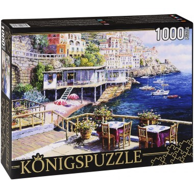 Königspuzzle 1000 - Café on the shore