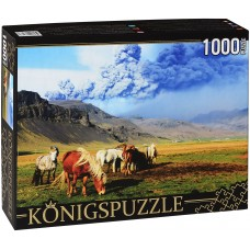 Königspuzzle 1000 - Horses in the Lowland