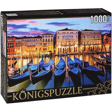 Königspuzzle 1000 - Evening at the harbor
