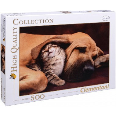 Clementoni 500 - Dog and Kitty