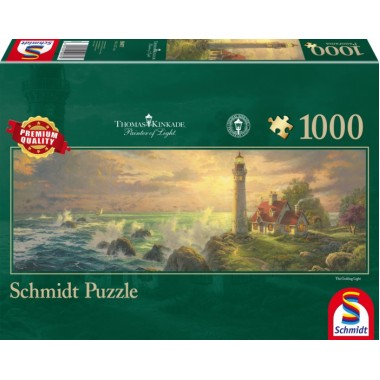 Schmidt  1000  -  The Travel Light, Thomas Kinkad, - A Panoramic Puzzle