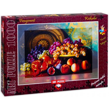 Art Puzzle 1000 - Figs, Pomegranates and Brass, George Henry Hall, Aromatic