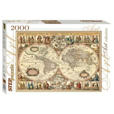 Step Puzzle 2000 - Historic map of the world