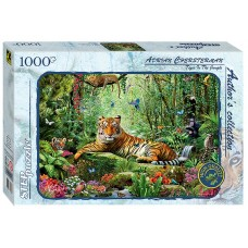 Step Puzzle 1000 - Tiger in the jungle, Adrian Chesterman