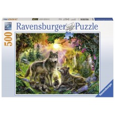 Ravensburger  500  - Family of wolves