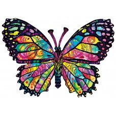SunsOut  1000 - Butterfly with stained glass, Dean Rousseau
