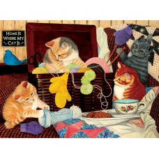 SunsOut  1000  - The home is where my cat is, Julie Bauknecht