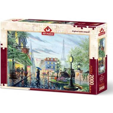 Art Puzzle  2000 - Summer Rain, Paris, Ken Schoutwell