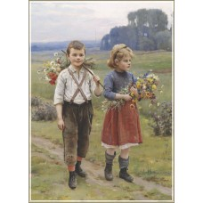 Gold Puzzle  500  - Children on a rural road