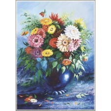 Gold Puzzle  500  - Flowers in blue vase