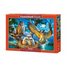 Castorland  500 - The owl family