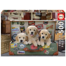 Educa 500 - Puppies in luggage