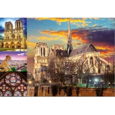 Educa 1000 - Notre Dame Cathedral in Paris, collage