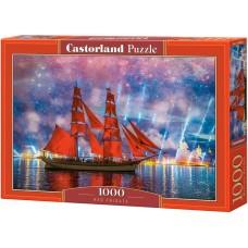 Castorland 1000 - Red frigate