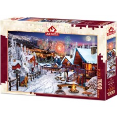 Art Puzzle 1000 - Winter fun, David M.