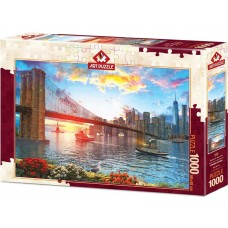 Art Puzzle 1000 - Sunset over New York