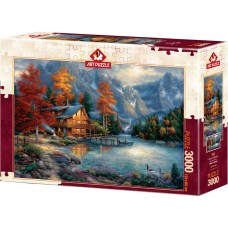 Art Puzzle 3000 - Autumn Reflection, Chuck Pinson