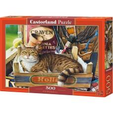 Castorland 500 - Kitten in a crate