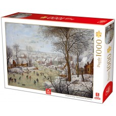 Deico Games 1000 - Winter landscape with bird traps, Peter Brueghel Young