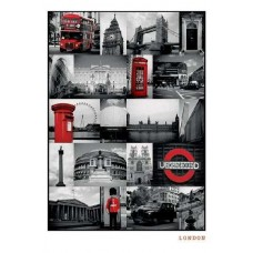 London (Red Collage)