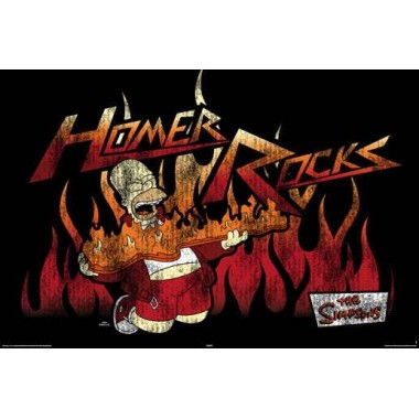 Simpsons - homer rocks